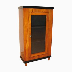 Antique Biedermeier German Cherrywood Veneer Display Case, 1820