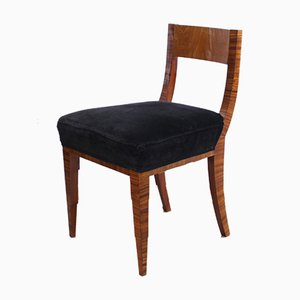 Art Deco French Macassar and Ash Side Chair, 1930s