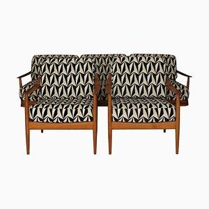 Deutsche Mid-Century Modell Antimott Sessel und Sofa Set von Walter Knoll, 1950er