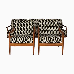 Mid-Century German Model Antimott Armchairs and Sofa Set by Walter Knoll, 1950s