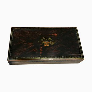 Art Deco French Rosewood Playing Cards Casket Box, 1920s
