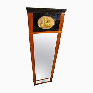 Deutscher Antiker Deutscher Spiegel Biedermeier Kirschholz Trumeau Spiegel, 1820er