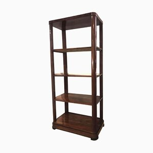 Antique Austrian Biedermeier Walnut Veneer Etagere, 1830s