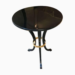 Antique Austrian Empire Brass & Polished Side Table, 1815