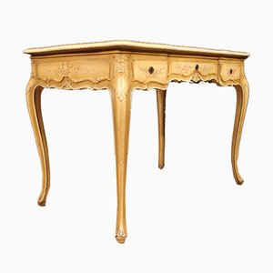 Italian Lacquered, Gilded, and Painted Desk, 1960s