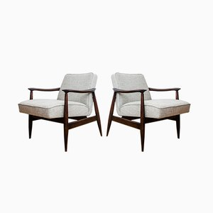 Model GFM-87 Armchairs by Julisz Kędziorek for GFM, 1960s, Set of 2