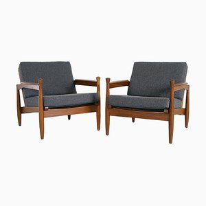Mid-Century Afromosia Armchairs, 1960s, Set of 2