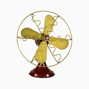 Vintage Red Bakelite Model W250T Table Fan from Siemens, 1940s