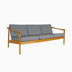 Swedish Oak 3-Seat Sofa by Folke Ohlsson for Bodafors, 1963