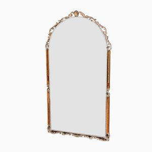 Art Deco Moulded Mounts and Amber Glass Mirror, 1920s