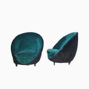 Armlehnstühle von Gio Ponti, 1950er, 2er Set