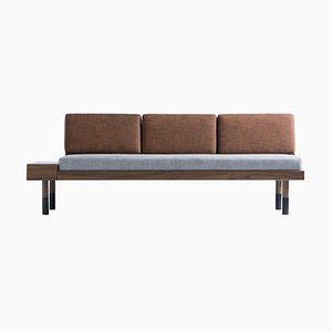 Graue Mid Sahco Sitzbank von Meghedi Simonian für Kann Design