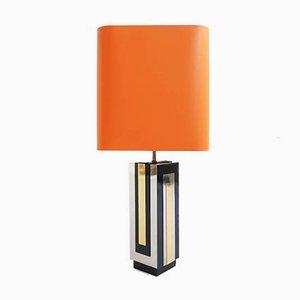 Grande Lampe de Bureau en Plaqué Chrome et Métal par Philippe Jean, 1970s