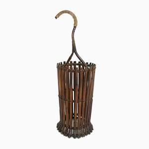 Mid-Century Modern Italian Bamboo Stick Holder or Umbrella Stand, 1950s
