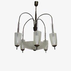 Murano Glass Chandelier, 1950s