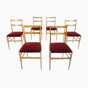 Dining Chairs by Gio Ponti for Cassina, 1950s, Set of 6