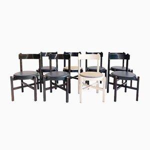 Esszimmerstühle von Gianfranco Frattini für Cassina, 1960er, Set of 8