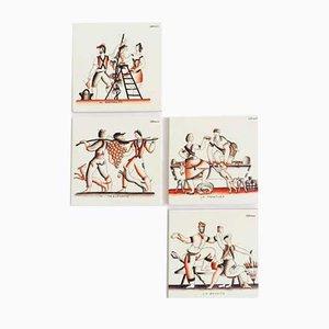 Céramiques Bacchus par Gio Ponti pour Richard Ginori, 1930s, Set de 4