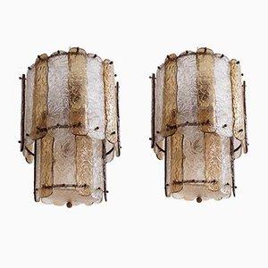 Corteccia Hängelampe aus Glas von Venini, 1960er