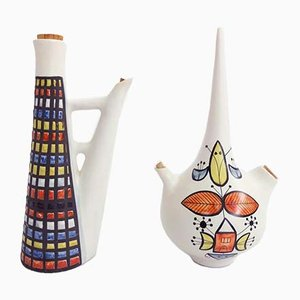 Ceramics by Roger Capron for Vallauris, 1950s, Set of 2