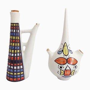 Keramik von Roger Capron für Vallauris, 1950er, 2er Set