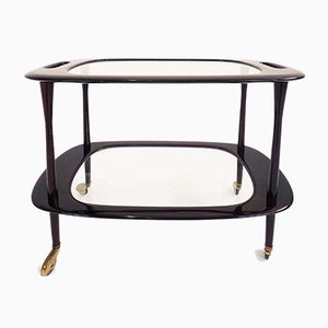 Mahogany Bar Cart by Cesare Lacca, 1950s