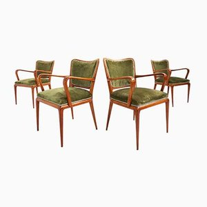 Armchairs Chairs by Osvaldo Borsani for Atelier Borsani Varedo, 1950s, Set of 4
