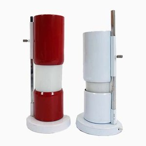Lámparas de mesa ajustables, años 50. Juego de 2