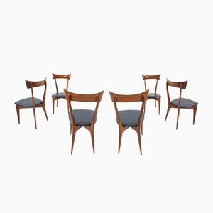 Chairs by Ico Parisi and Luisa Parisi for Ariberto Colombo, 1950s, Set of 6