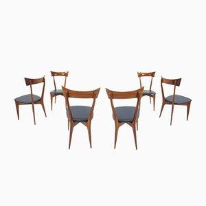 Stühle von Ico Parisi und Luisa Parisi für Ariberto Colombo, 1950er, 6er Set