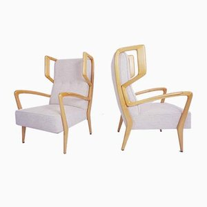 Italian Armchairs by Orlando Orlandi, 1940s, Set of 2