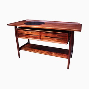 Mid-Century Danish Rosewood Console Table by Arne Vodder for Sibast