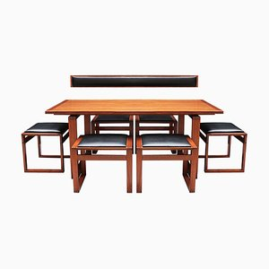 Set da pranzo Mid-Century in teak e sedie di Erik Buch, Danimarca, set di 8