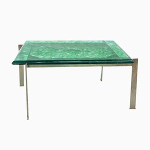 Vintage Resin and Steel Coffee Table