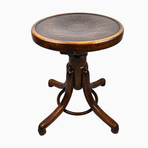 Antique Piano Stool by Michael Thonet for Gebrüder Thonet Vienna GmbH, 1900s