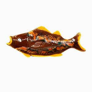 Dekorativer Mid-Century Fisch aus Keramik von Vallauris, 1950er