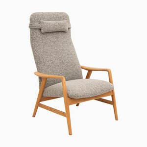 Schwedischer Eichenholz Armlehnstuhl von Alf Svensson für Dux, 1960er