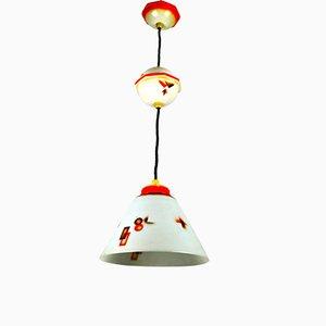 Vintage Deckenlampe von Schott Jena