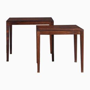 Tavolini ad incastro in palissandro di Rosenthal, anni '70