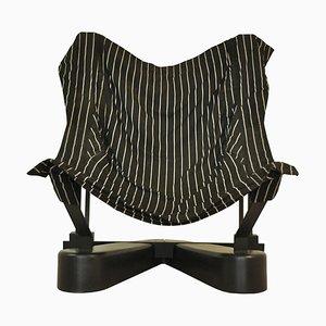 Armlehnstuhl aus Metall & Stoff, 1990er