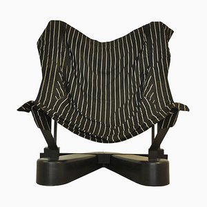 Metal & Fabric Armchair, 1990s