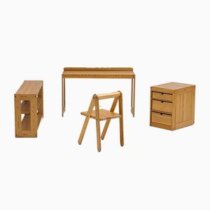 Children's Desks by Pierre Grosjean for Junior design, 1977, Set of 4