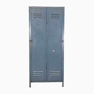 Industrial Factory Locker Cabinet, 1950s