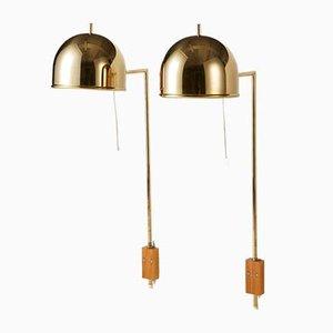 Schwedische Wandlampen von Bergboms, 1960er, 2er Set
