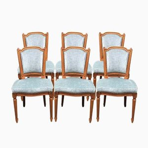 Vintage Louis XV Esszimmerstühle, 6er Set