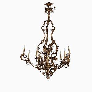 Antiker Italienischer Bronze Kronleuchter