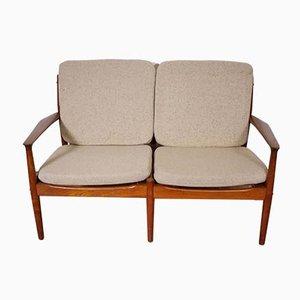 Dänisches Teak 2-Sitzer Sofa von Grete Jalk für Glostrup, 1960er