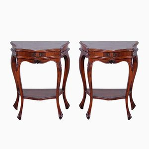 Louis XVI Style Wooden Nightstands, 1950s, Set of 2