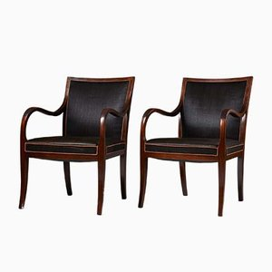Danish Armchairs by Frits Henningsen for Frits Henningsen, 1931, Set of 2
