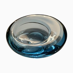 Danish Glass Ovoid Bowl by Per Lütken for Holmegaard, 1960s
